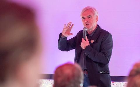 John McDonnell, the shadow chancellor - Credit: Paul Grover for The Telegraph