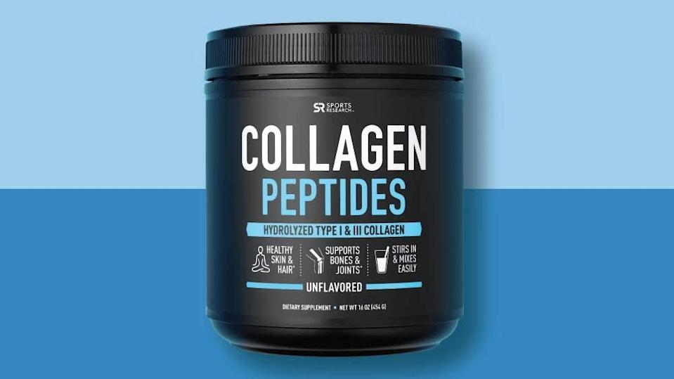 Sports Research Collagen Peptides Powder. (Photo: Amazon)
