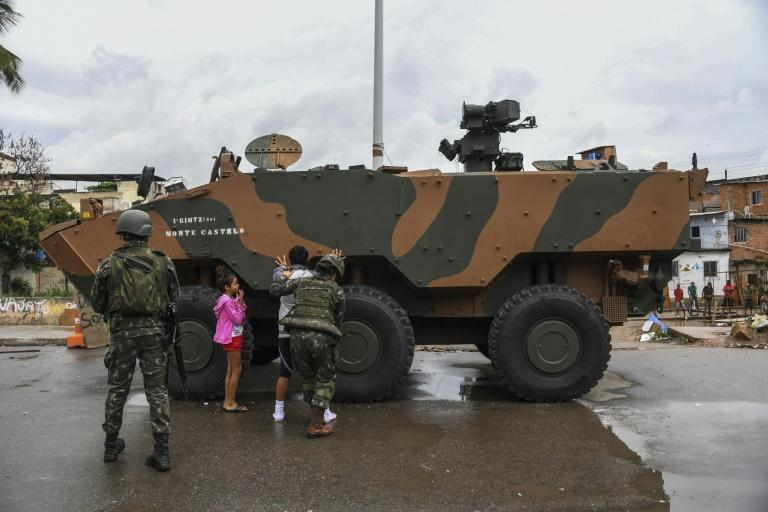 Brazilian soldiers are often deployed in the shanty towns to help Rio de Janeiro police. These solders were sent to help crack down on drug gangs at the Jacarezinho favela in August