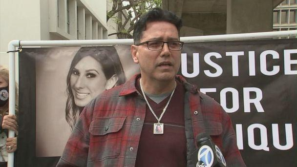 PHOTO: Richard Cartier, uncle of Monique Munoz, speaks outside Inglewood Juvenile Court in Inglewood, Calif., April 23, 2021. (KABC)