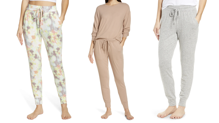 The BP. joggers come in eight colors and patterns.