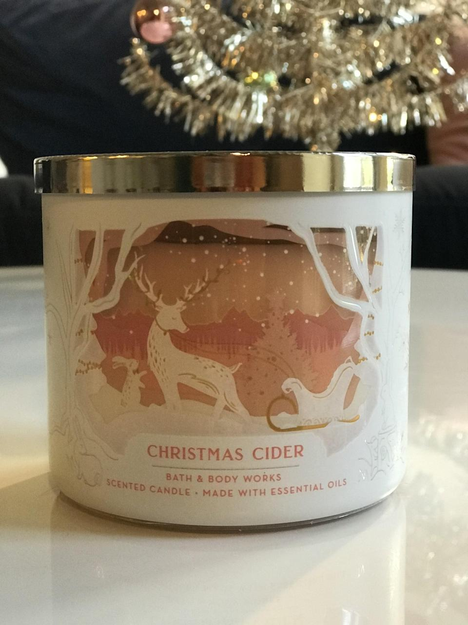 <p><span>3-Wick Candle</span> ($15, originally $25)</p> <p><strong>What It Smells Like:</strong> A hot spicy drink in a big mug. The cinnamon isn't too overwhelming.</p>