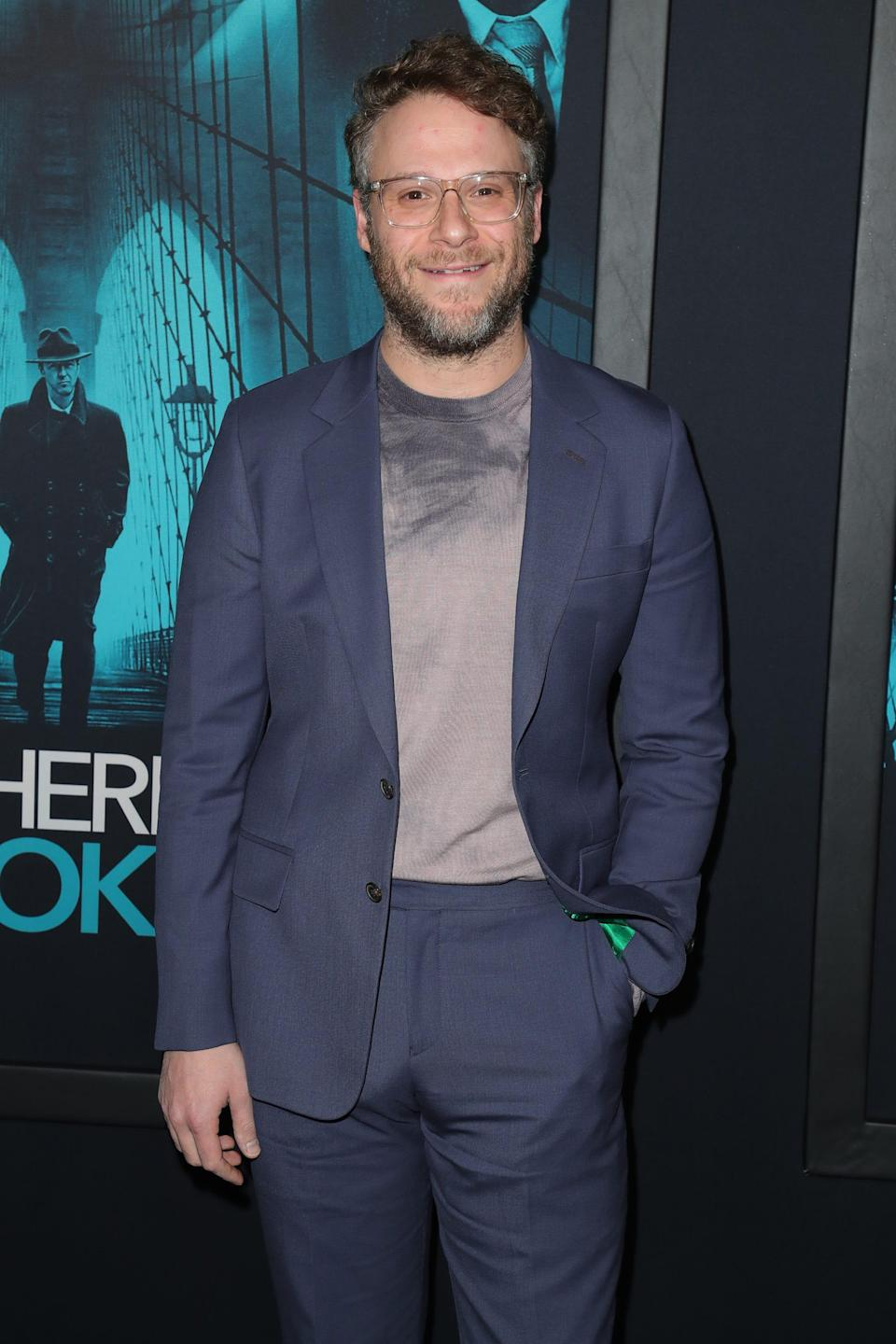 """Seth Rogen attends the Premiere of Warner Bros. Pictures' """"Motherless Brooklyn"""" on Oct. 28, 2019, in Los Angeles."""