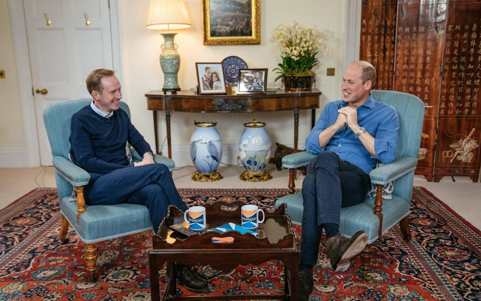 Prince William discusses the state of the planet with Adam Flemming, the BBC's chief political correspondent, for an episode of Newscast - Kensington Palace
