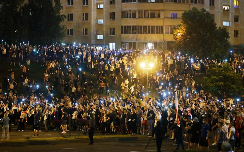 Police and protesters clashed in Belarus' capital - AP