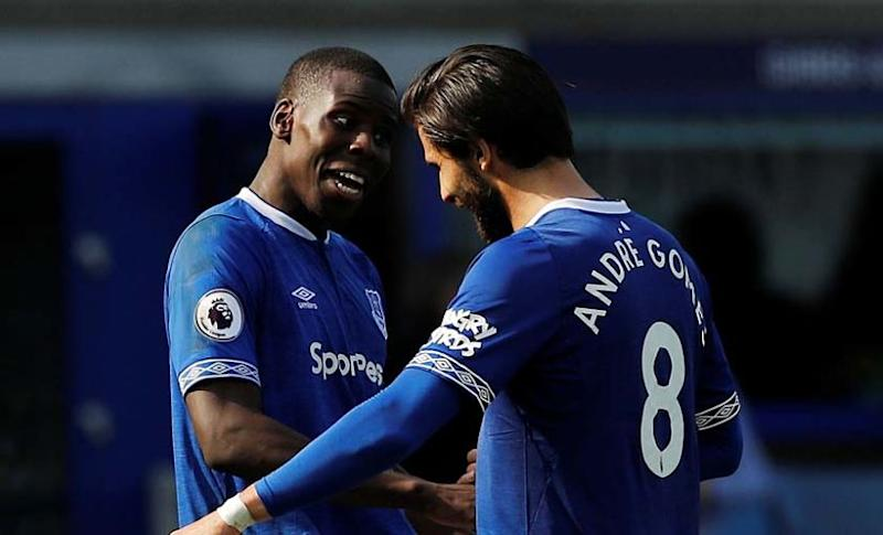 Andre Gomes (R) has signed a five year deal with Everton. Reuters