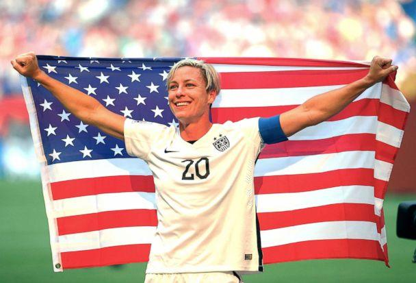 PHOTO: Abby Wambach, no. 20, U.S., celebrates the 5-2 victory against Japan in the FIFA Women's World Cup Canada 2015 Final at BC Place Stadium on July 5, 2015, in Vancouver. (Kevin C. Cox/Getty Images FILE)