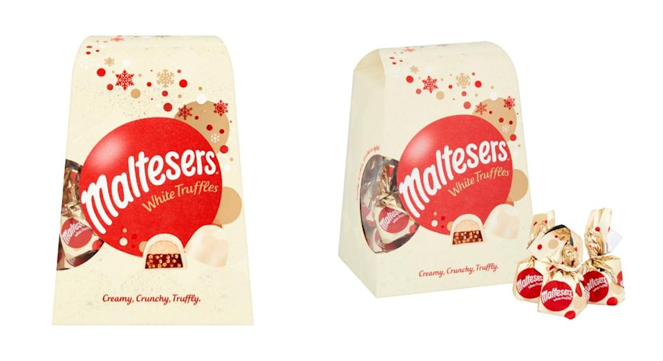 Maltesers is set to launch white chocolate truffles in time for Christmas [Photo: Maltesers]