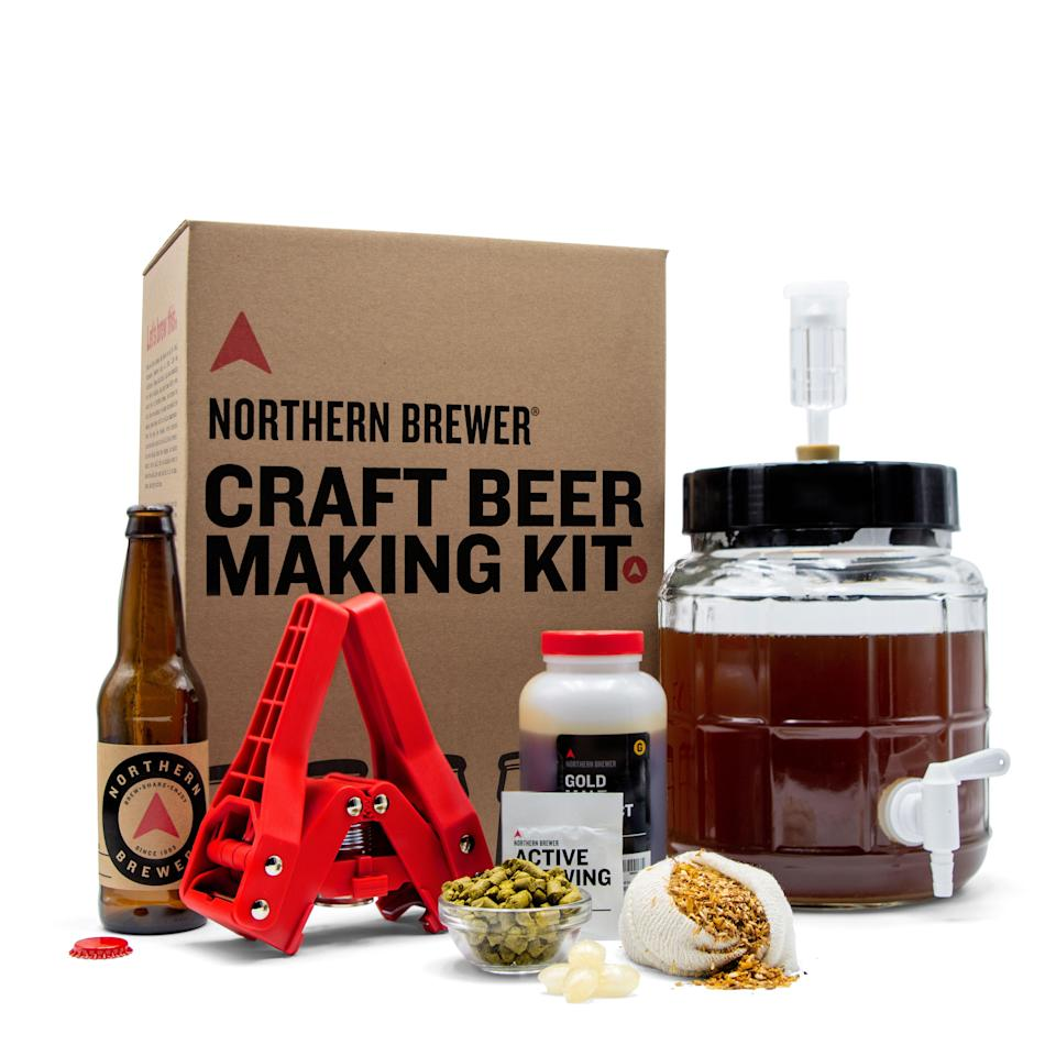 """<p><strong>Northern Brewer</strong></p><p>huckberry.com</p><p><strong>$70.00</strong></p><p><a href=""""https://go.redirectingat.com?id=74968X1596630&url=https%3A%2F%2Fhuckberry.com%2Fstore%2Fnorthern-brewer%2Fcategory%2Fp%2F70732-craft-beer-making-kit-with-siphonless-fermenter&sref=https%3A%2F%2Fwww.womansday.com%2Flife%2Fg24378973%2Fbest-gifts-for-boss%2F"""" rel=""""nofollow noopener"""" target=""""_blank"""" data-ylk=""""slk:Shop Now"""" class=""""link rapid-noclick-resp"""">Shop Now</a></p><p>Give your boss a new hobby (and a new way to enjoy craft beer) with this DIY craft beer kit, which includes a fermenter, grains, malt, hops, yeast, bottles, and everything else they need to become a novice brewer. </p>"""