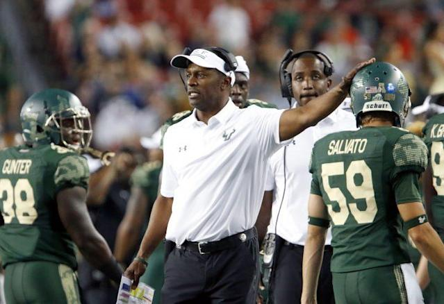 South Florida will be without coach Willie Taggart after his move to Oregon. (Getty)