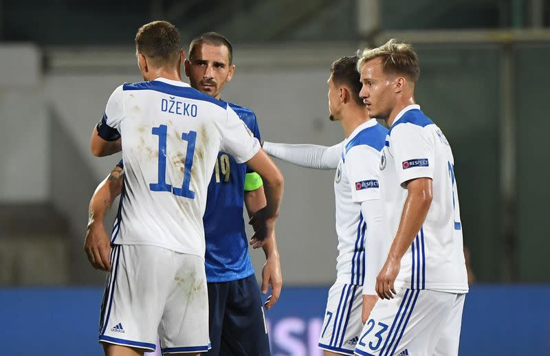 Bosnia end Italy's 11-match winning run with 1-1 draw