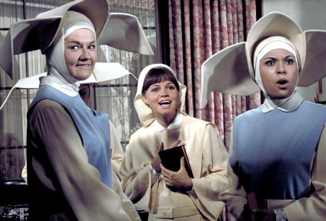Marge Redmond as Sister Jacqueline, Sally Field as Sister Bertrille, and Shelley Morrison as Sister Sixto in 'The Flying Nun' (Photo: ABC Photo Archives via Getty Images)
