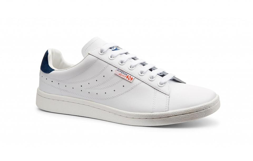 """<p>Tennis superstar Ivan Lendl has teamed up with Superga for a range of tennis shoes just in time for Wimbledon. Available in four colours (including white, navy and black), the simple leather trainers will take you through summer and beyond.<br><a rel=""""nofollow noopener"""" href=""""https://www.superga.co.uk/browse/c-DesignerSeries-462/c-SupergaSportLendl-497/"""" target=""""_blank"""" data-ylk=""""slk:Superga, £75"""" class=""""link rapid-noclick-resp""""><i>Superga, £75</i></a> </p>"""