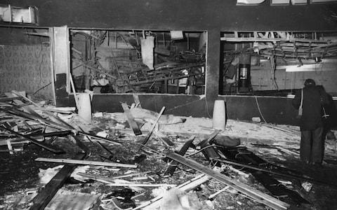 The wrecked interior of the Mulberry Bush - Credit: Hulton Archive/Wesley