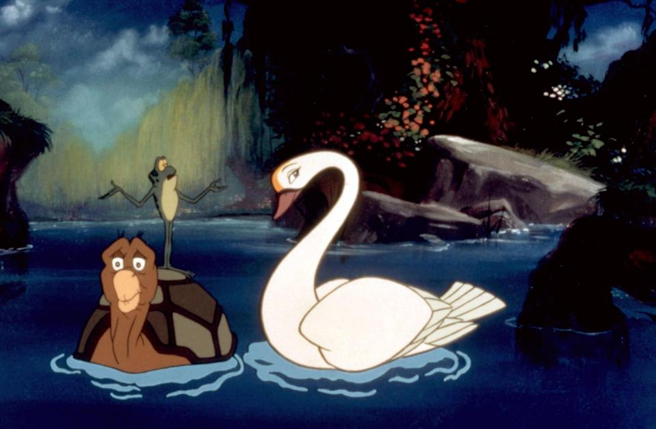 """<p><strong>Hulu's Description:</strong> """"From the director of The Fox and the Hound comes <b>THE SWAN PRINCESS</b>, a magical animated adventure (based on the classic fairytale SWAN LAKE) that has captured the hearts of audiences around the world!""""</p> <p><span>Stream <strong>The Swan Princess</strong> on Hulu!</span></p>"""