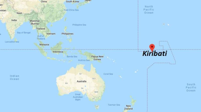 A map shows the location of Kiribati in the Pacific. Source: Google Maps