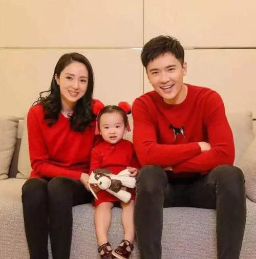 Gao Yunxiang with his ex-wife Dong Xuan and daughter before his arrest in Australia.