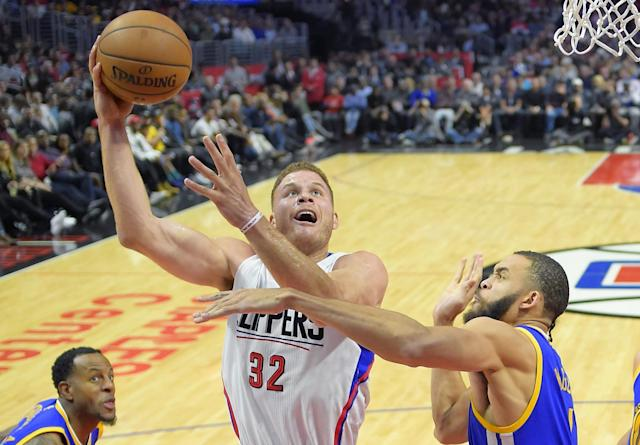 "<a class=""link rapid-noclick-resp"" href=""/nba/players/4561/"" data-ylk=""slk:Blake Griffin"">Blake Griffin</a> is expected to return some time in January. (AP)"