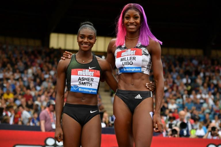 Shaunae Miller-Uibo was too fast for Britain's double European sprint champion Dina Asher-Smith in the 200 metres