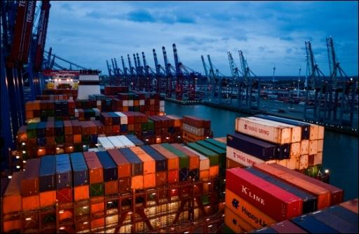 Container-Terminal in Hamburg