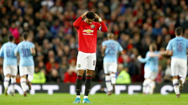 City have one foot in the EFL Cup final after beating United 3-1 at Old Trafford, as Pep Guardiola got the better of Ole Gunnar Solskjaer.
