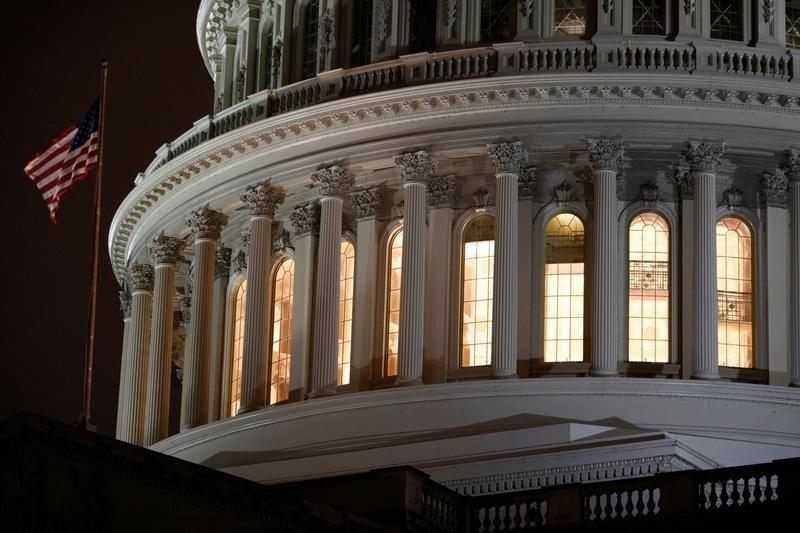The U.S. Capitol Building as seen ahead of a vote on the coronavirus (COVID-19) relief bill on Capitol Hill in Washington