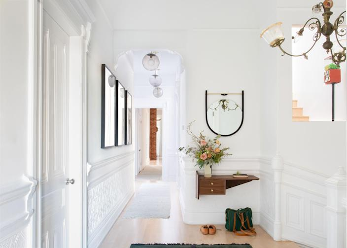 Why not have a gumball machine in your foyer, like the one seen here?