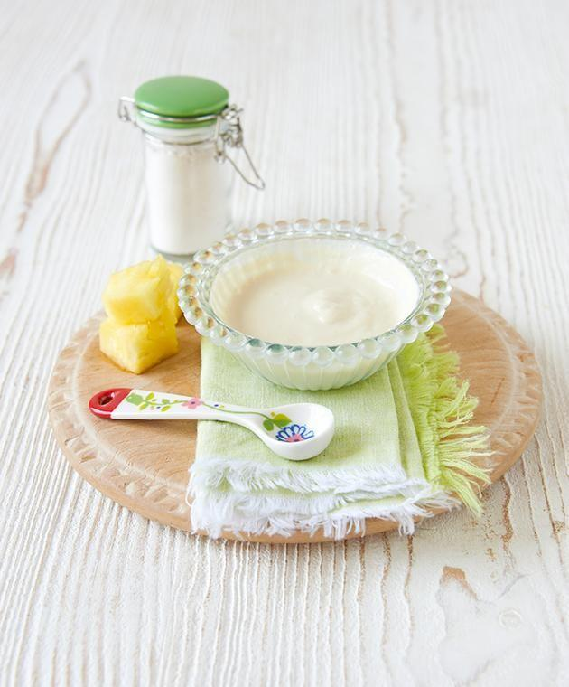 Pineapple and Yoghurt Smoothie Clay Mask.