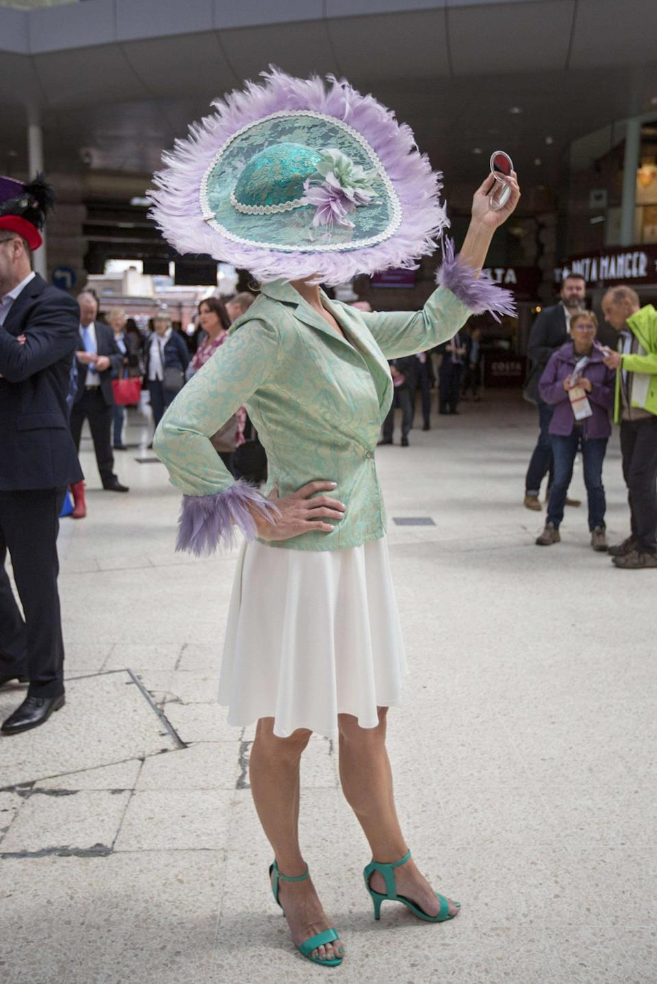 No need to wait for the racecourse to strike a pose. [Photo: Rex]