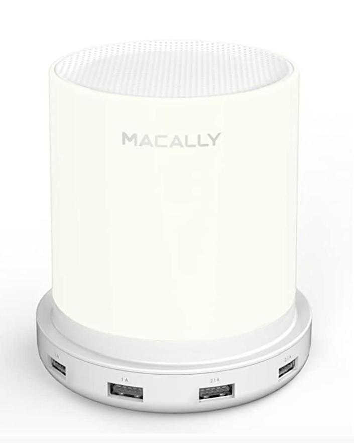"Young recommends getting a nightlight that charges your phone for your RV. <a href=""https://amzn.to/2PIMEbE"" rel=""nofollow noopener"" target=""_blank"" data-ylk=""slk:We found this Macally LED Desk, Nightstand &amp; Bedside Lamp with USB Port for $30 on Amazon."" class=""link rapid-noclick-resp"">We found this Macally LED Desk, Nightstand &amp; Bedside Lamp with USB Port for $30 on Amazon.</a>"