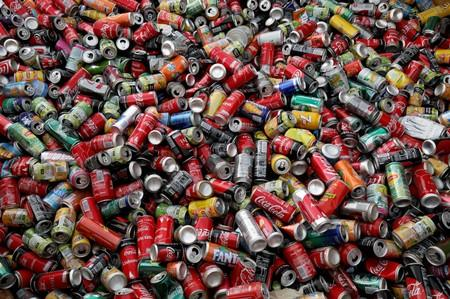 FILE PHOTO: Recycle cans are seen at Veolia Proprete France Recycling company in Gennevilliers, near Paris