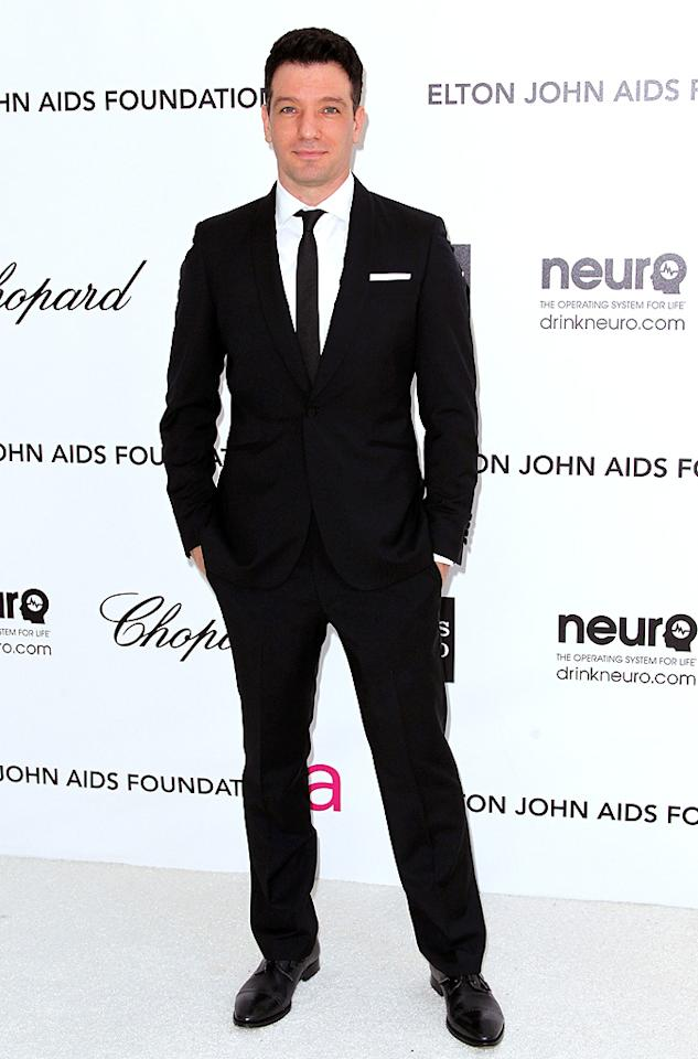 JC Chasez arrives at the 2012 Elton John AIDS Foundation Academy Awards Party in Los Angeles, CA.