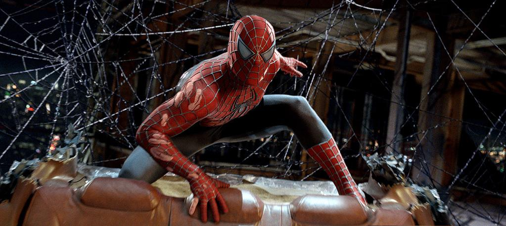 """SPIDER-MAN <br> """"<a href=""""http://movies.yahoo.com/movie/1808496334/info"""">Spider-Man 3</a>""""<br>Grade: B- <br> Unlike Superman's tired ensemble, Spidey's suit is chic and practical thanks to its fashion-forward web applique and aerodynamic design."""