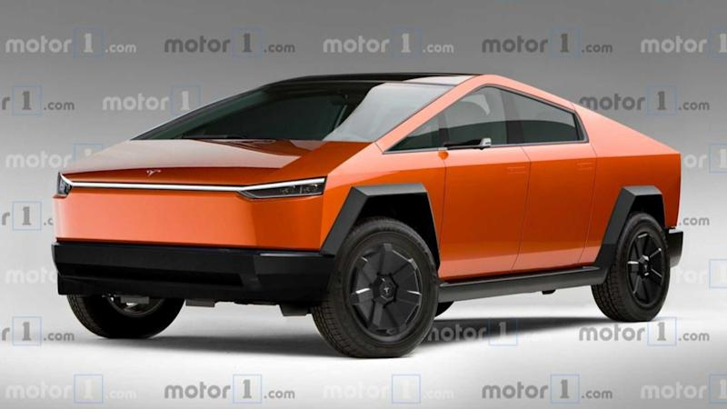 Tesla Cybertruck production version rendering