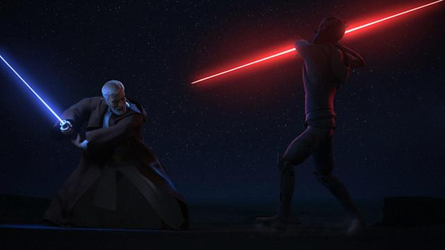 Obi-Wan faces off against Darth Maul in Rebels (credit: Disney)