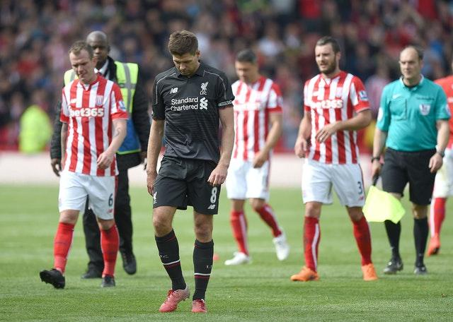 Liverpool were hammered by Stoke in Steven Gerrard's final game for the club