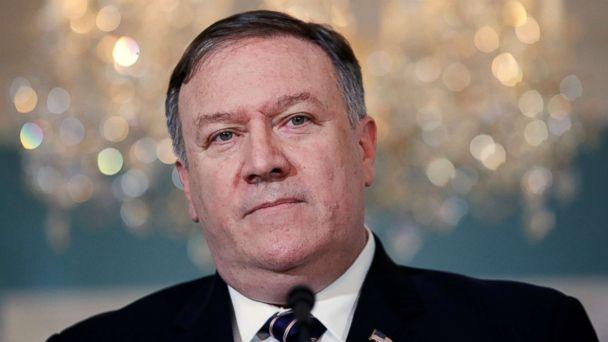PHOTO: Secretary of State Mike Pompeo speaks about refugees as he makes a statement to the media, Sept. 17, 2018, at the State Department in Washington. (Jacquelyn Martin/AP)