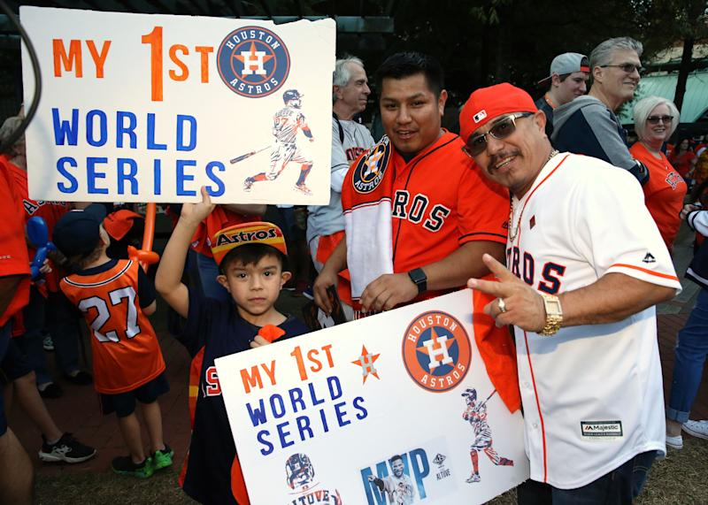 The cheapest ticket price for Game 1 of the World Series in Houston was $412 on the secondary market. (Troy Taormina-USA TODAY Sports)