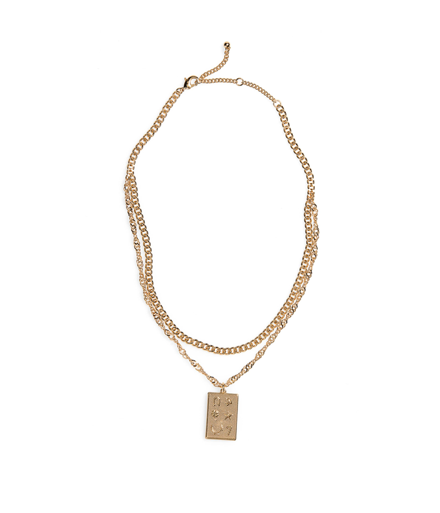 BP. Layered Square Charm Necklace (Photo: Nordstrom)