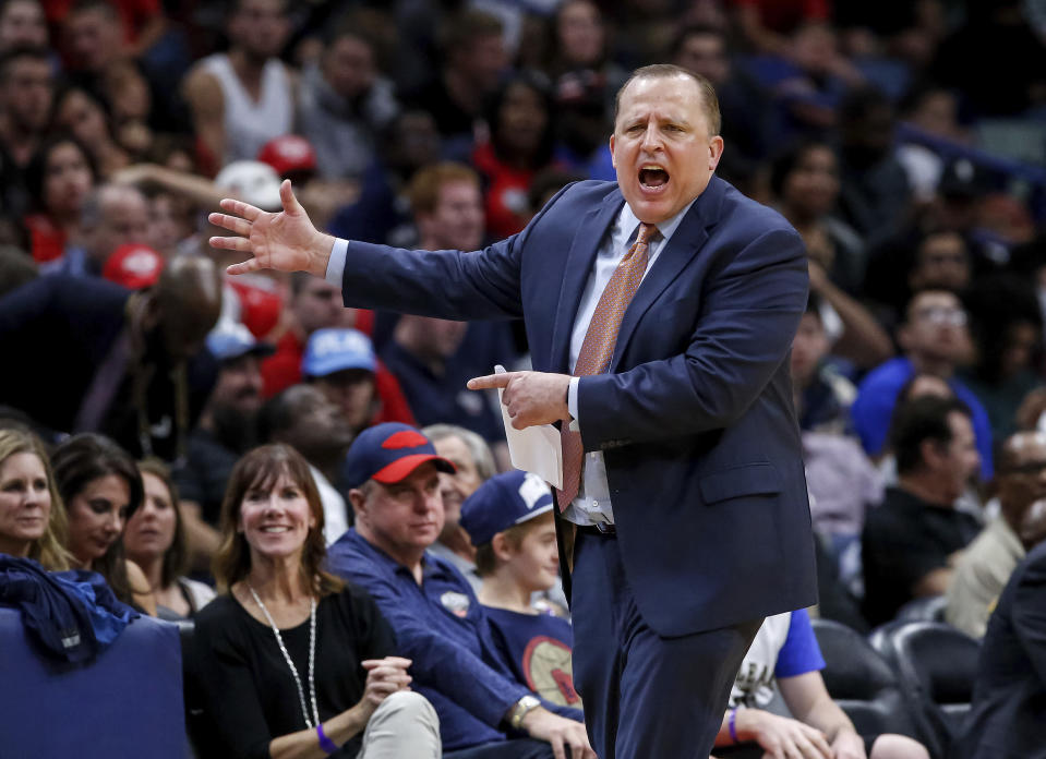 Tom Thibodeau doesn't yet have the Timberwolves playing sound defense. (AP)