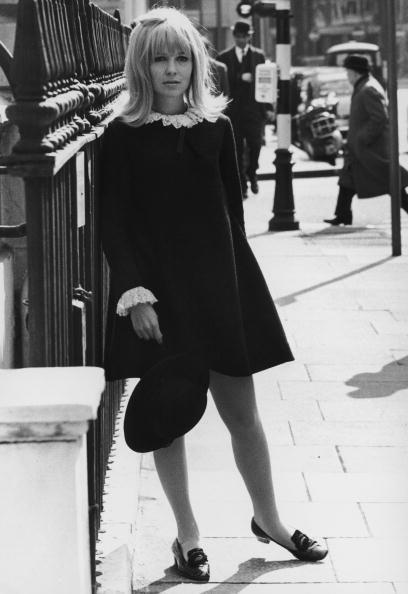 <p>Street style gets a Shakespearean makeover with a lacy collar, matching cuffs, and buckled black loafers. </p>