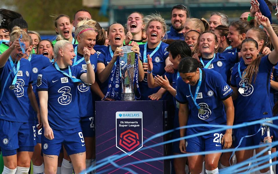 Chelsea are WSL champions for a second season running - GETTY IMAGES