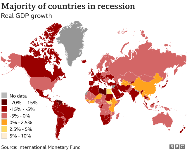 Majority of countries in recession - Jan 2021