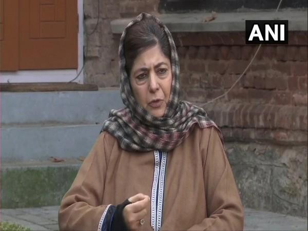 former Jammu and Kashmir Chief Minister Mehbooba Mufti. (Photo/ANI)