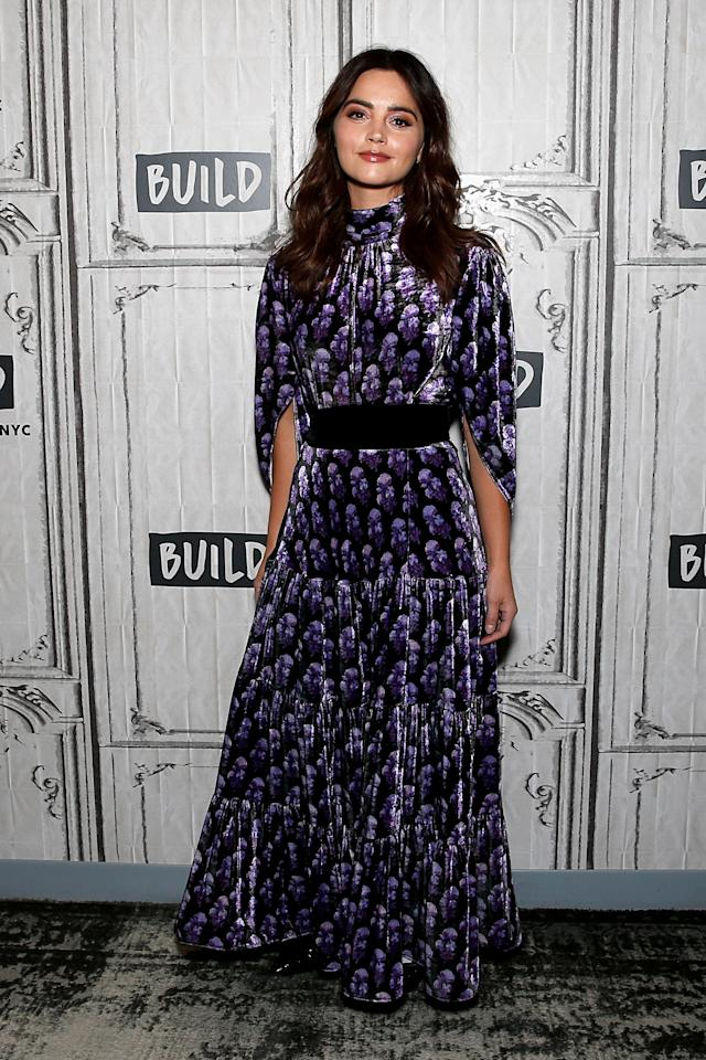 <p>'The Cry' actress Jenna Coleman chose go-to label Chloe for the Build Series in New York on January 9. <em>[Photo: Getty]</em> </p>