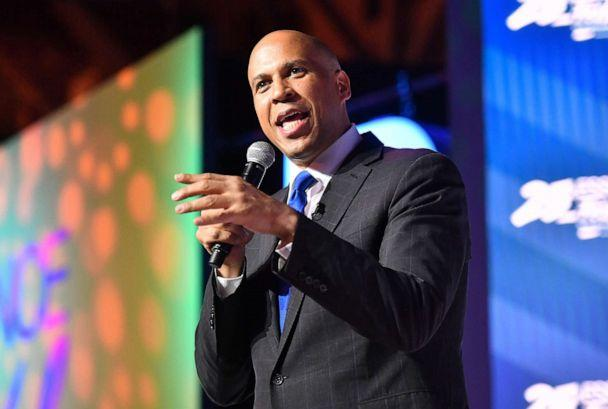 PHOTO: Cory Booker speaks on stage at 2019 Essence Festival at Ernest N. Morial Convention Center on July 06, 2019, in New Orleans. (Paras Griffin/Getty Images, FILE)