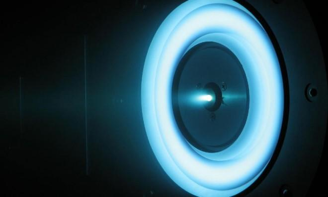 The cutting-edge solar-electric propulsion thruster in development at NASA.