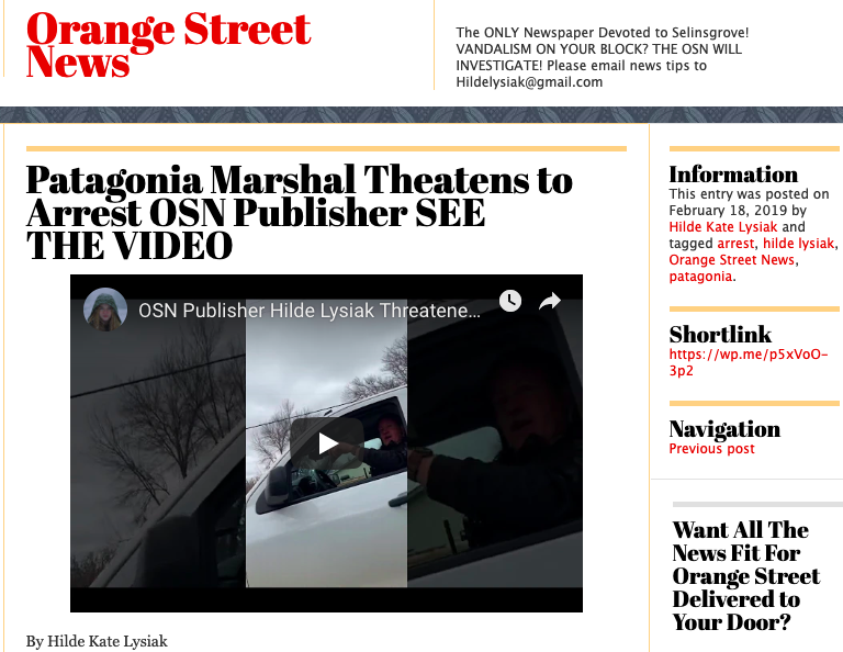 Front page of the Orange Street News. (Screen Shot/Orange Street News front page)