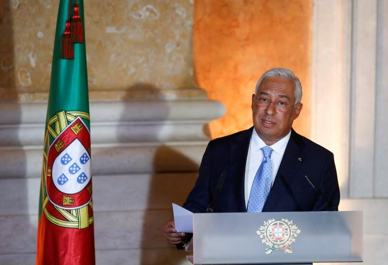 FILE PHOTO: Portugal's Prime Minister Antonio Costa gives a speech during the swearing-in ceremony of new ministers at Ajuda Palace in Lisbon