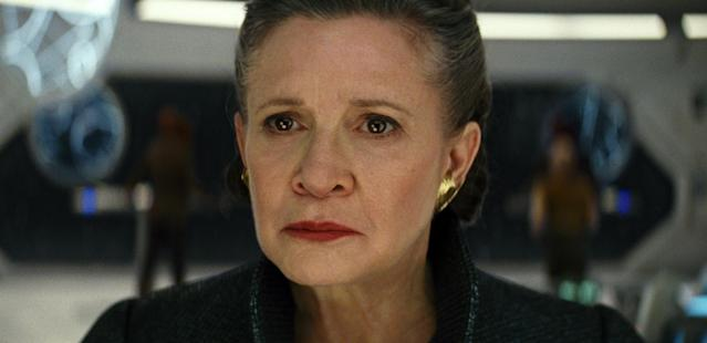 Carrie Fisher as Leia in <em>Star Wars: The Last Jedi.</em> (Photo: Lucasfilm via AP)